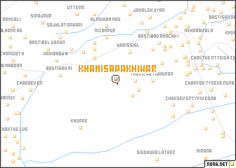 map of Khamīsa Pakhīwar