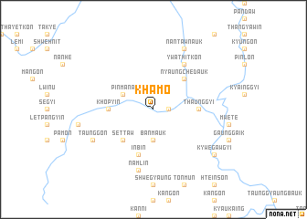 map of Khamo