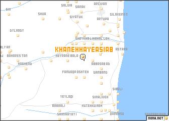 map of Khānehhā-ye Āsīāb