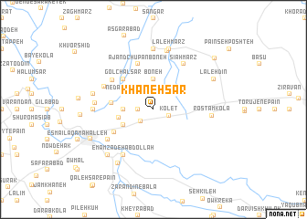 map of Khāneh Sar