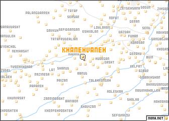 map of Khāneh Vāneh