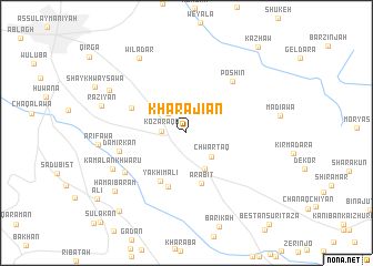 map of Kharājiān