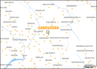 map of Kharūn Rāh