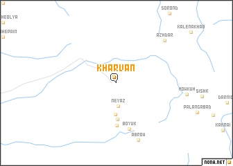 map of Kharvān