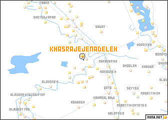 map of Khasraj-e Jenādeleh