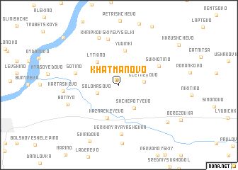 map of Khatmanovo