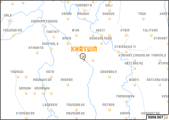 map of Khayu-in