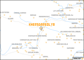 map of Khersdar-e 'Olyā