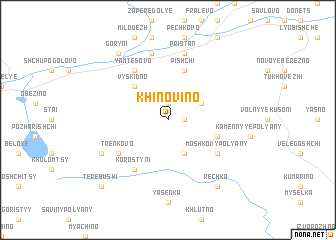 map of Khinovino
