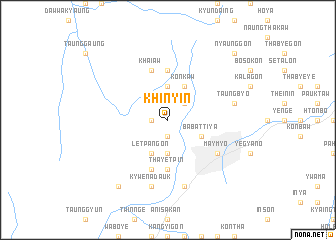 map of Khinyin