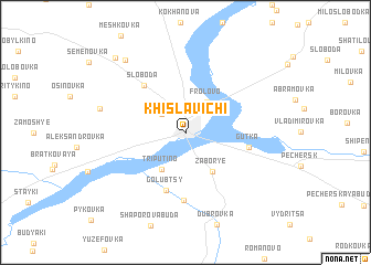 map of Khislavichi