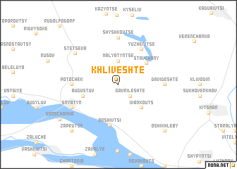map of Khliveshte