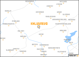 map of Khludnevo