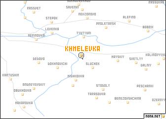 map of Khmelëvka
