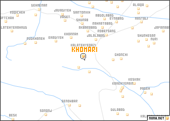 map of Khomārī