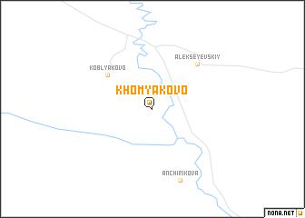 map of Khomyakovo