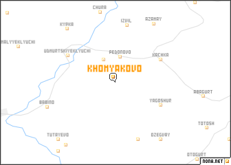 map of Khomyakovo