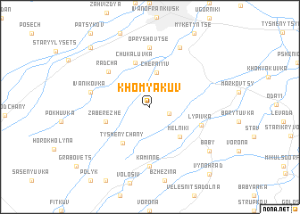 map of Khomyakuv