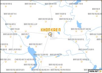 Khon Kaen Thailand Map Nona Net