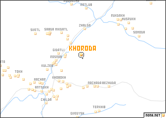 map of Khoroda