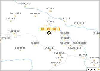 map of Khorokino