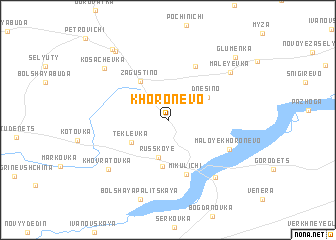 map of Khoronevo