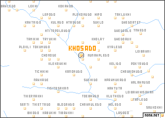 map of Khosado