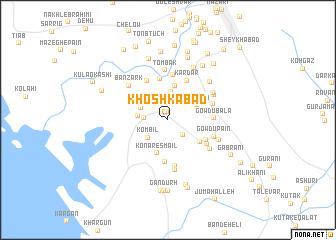 map of Khoshkābād