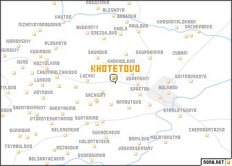 map of Khotetovo