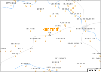 map of Khotino