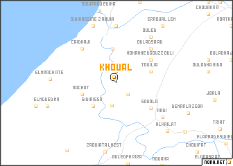 map of Khouâl