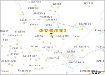 map of Khozhaynova