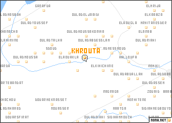 map of Khrouta