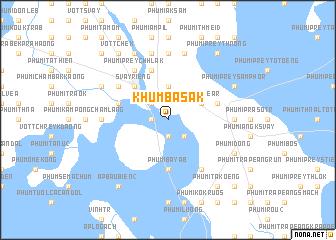 map of Khŭm Basăk