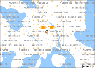 map of Khŭm Chék