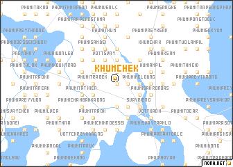 map of Khŭm Chék