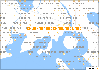 map of Khŭm Kâmpóng Châmlâng