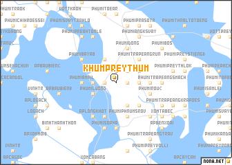 map of Khŭm Prey Thum