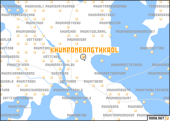 map of Khŭm Rômeăng Thkaôl