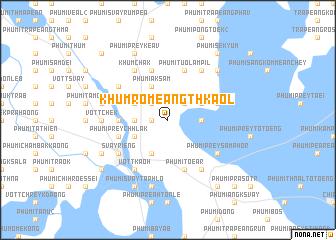 map of Khŭm Rômeăng Thkaôl
