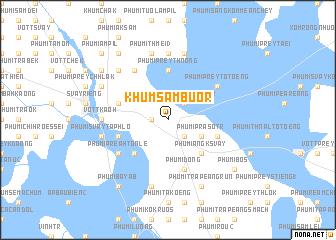 map of Khŭm Sâmbuŏr