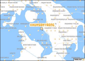 map of Khŭm Sâm Yaông