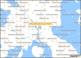 map of Khŭm Sângkhôr