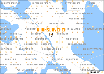 map of Khŭm Svay Chék