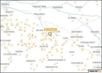 map of Khūnīk