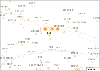 map of Khunzakh