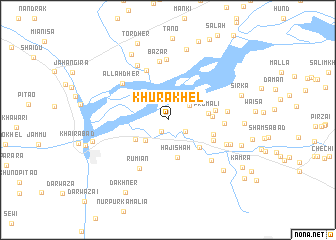 map of Khura Khel
