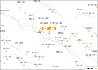 map of Khurān