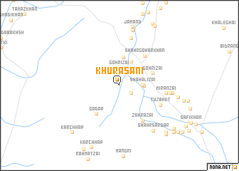 map of Khurāsāni