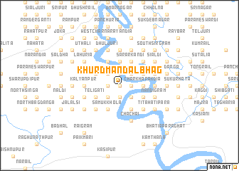 map of Khurd Mandalbhāg